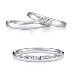Anolyu(上 )結婚指輪「Plume」(下)