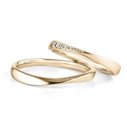結婚指輪「amulet 3 YG」