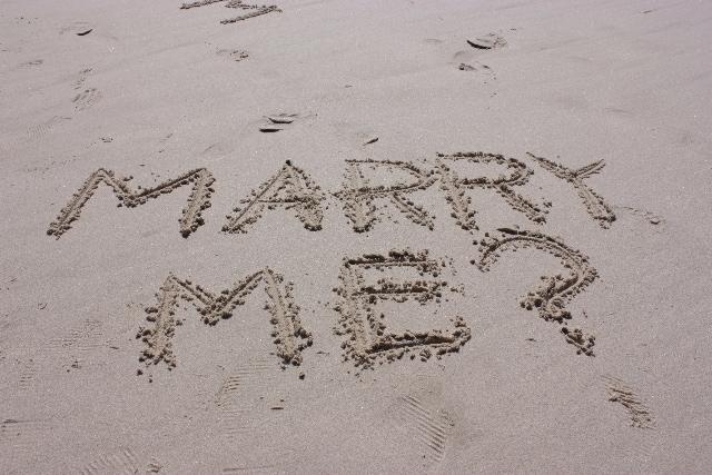 指輪のケースだけ購入し、『結婚して下さい』のメッセージを添えるのイメージ