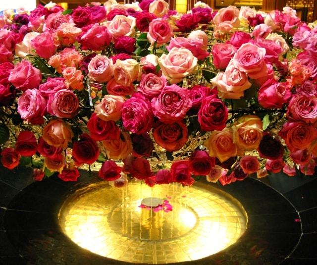 100本の薔薇の花束と共にサプライズプロポーズのイメージ