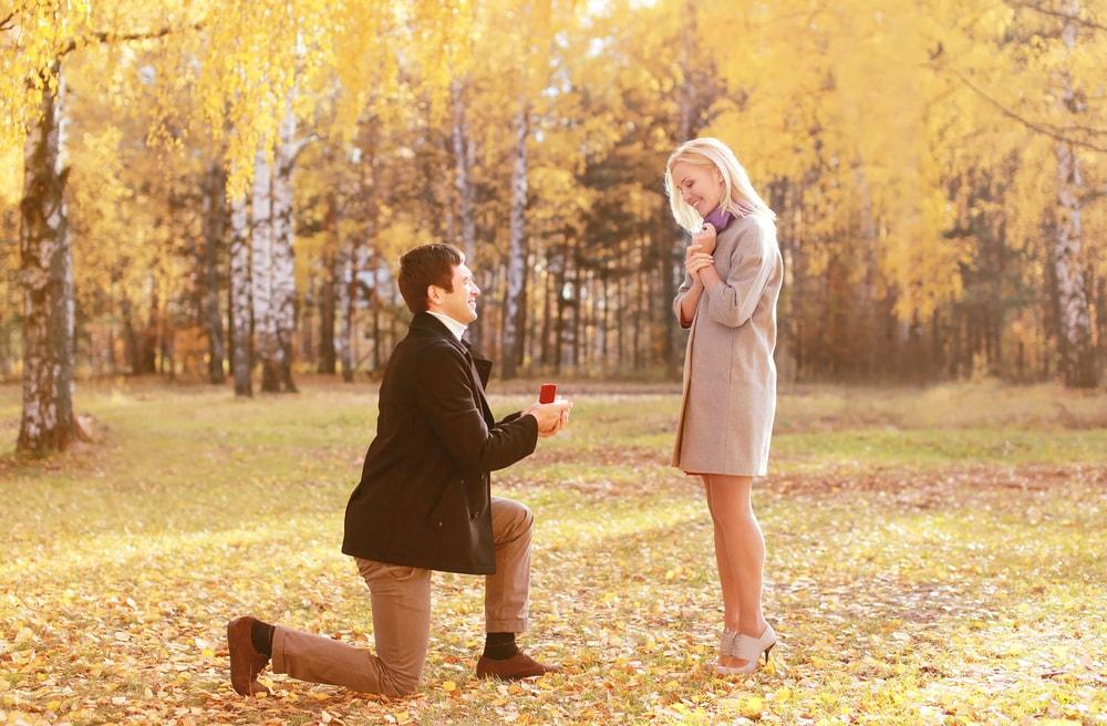 人恋しくなる季節、紅葉の中で……「秋」のプロポーズのイメージ