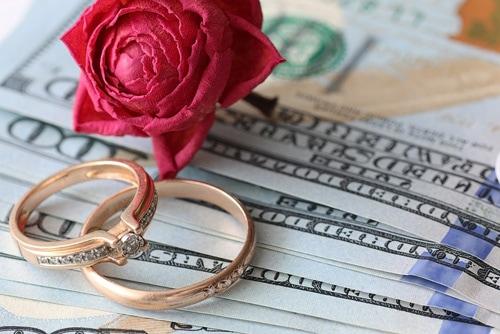 新婚生活で使うお金のバランスのイメージ