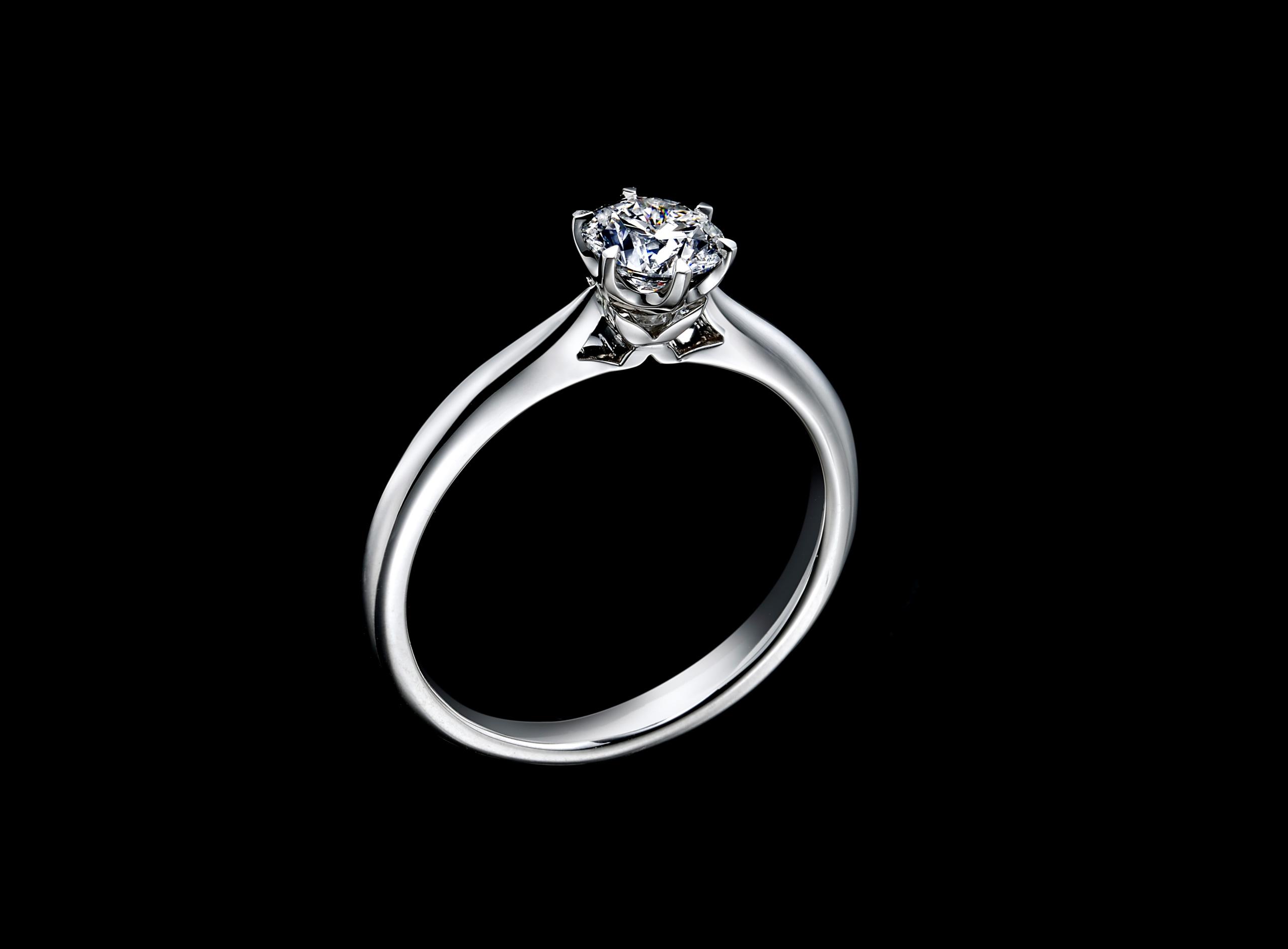 婚約指輪の王道デザイン「ソリティアリング」は見逃せない!のイメージ